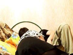 Супружеская измена зрелой русской толстухи перед любительской скрытой камерой
