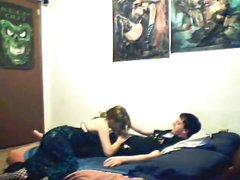 Куни и домашний минет с молодой красоткой в 69 позе перед скрытой камерой