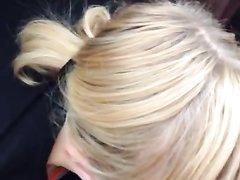 От первого лица домашний минет с окончанием в рот немецкой блондинки