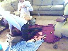 Пока мужа не было дома жена пригласила коллег и сыграла с ними в карты на секс, её конкретно поимели этим вечером
