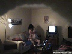 Скрытая камера позволит мужу увидеть супружескую измену жены с соседом, на видео потрясающий домашний хардкор