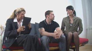 Немецкое в троем порно