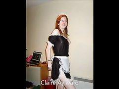Домашнее видео со скрытой камеры, на котором рыжеволосая домохозяйка раздевается