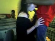 Зрелая британка со стройным негром в межрассовом порно показывает минет