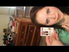 Домашнее видео от первого лица с минетом и проникновение, а также окончание на лицо
