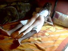 Худой негр пришёл в гости к белой любовнице для межрассового секса в её супружеской постели