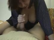 Любительский минет от грудастой поклонницы орального секса и проникновение