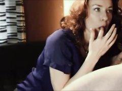 В интимном видео нежная римская домохозяйка выполнила незабываемый минет