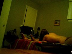 Любительское порно с мастурбирующей член азиаткой снято скрытой камерой