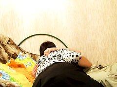 Молодой хахаль в домашнем видео трахает русскую толстуху с огромной попой