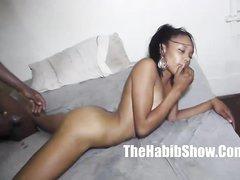 В домашнем сексе озабоченной негритянской парочки присутствует хардкор
