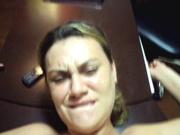 Проститутка решила попробовать себя в любительском анальном порно с минетом