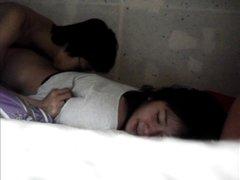 Корейская пара уединилась для домашнего секса в тайне от своих половинок