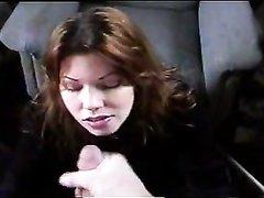 Толстый член на видео после минета обильно кончает в рот и на лицо красотке
