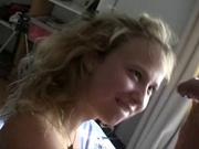 Нежное домашнее порно с молодой и грудастой блондинкой и её будущим супругом