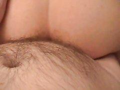 От первого лица домашний анальный секс с фигуристой женой снят на камеру
